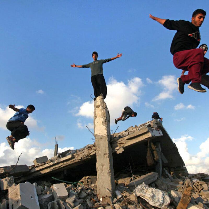 Parkouristé v PK Gaza
